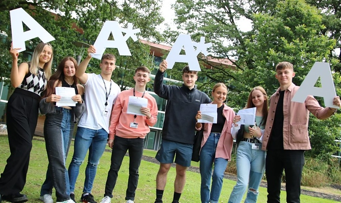Cheshire College students A levels success