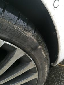 Damaged wheel - Cheshire East pothole claim 1