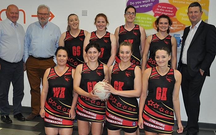 Cheshire Freemasons fund Scorpions Ladies Netball Kit