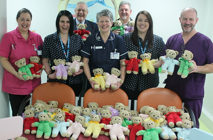 Cheshire Freemasons visit Leighton Hospital to deliver cuddly toys