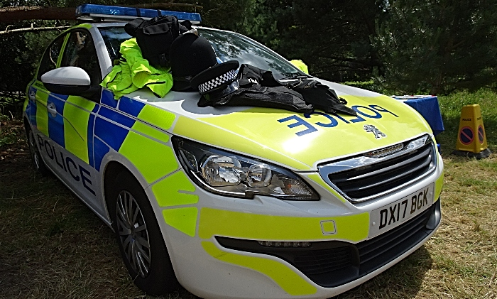 Cheshire Police car and uniforms to try on (1)
