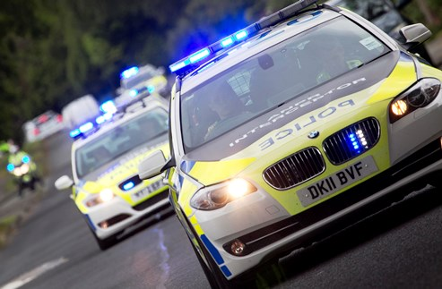 Cheshire Police cars in Operation Crossbow