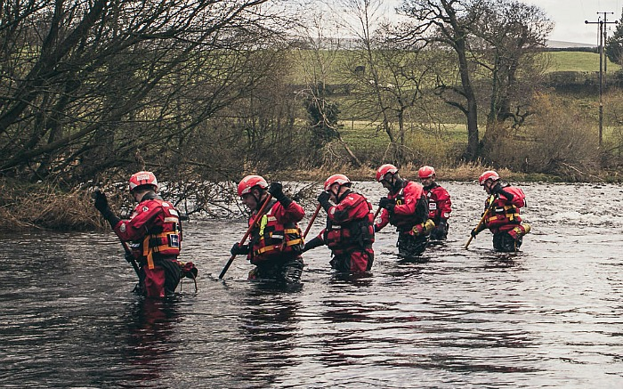 Cheshire Search and Rescue team in floods