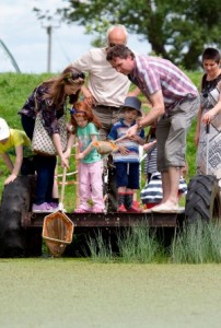 Cheshire Wildlife Trust hosts  free Open Farm Sunday event -  Pond Dipping (c) Tom Marshall  12.05.15.