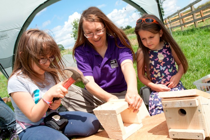 Cheshire Wildlife Trust hosts free Open Farm Sunday event - bird boxes (c) Tom Marshall 12.05.15.