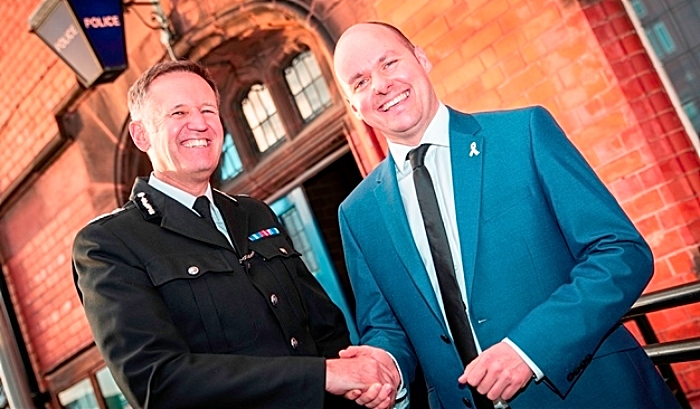 hunts - Chief Constable Darren Martland and PCC David keane
