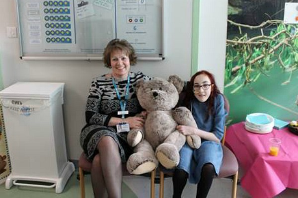 Chief Executive Tracy Bullock with long-term patient Caitlin Shaw