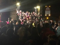 Audlem village packed as Christmas lights switch-on event