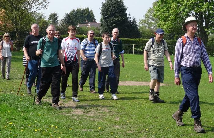 Chris Barratt leads the Wybunbury walk for Marie Curie