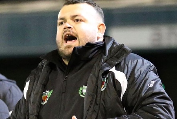 Chris Broad, manager of Nantwich Town Ladies first team