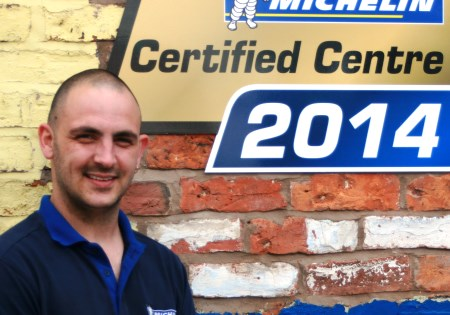 Tyre fitter Chris Hughes, at Crewe Tyres & Exhaust