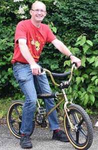 Chris White on his Raleigh Super Tuff Burner