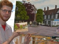 Autistic artist creates oil painting cards of Nantwich scenes