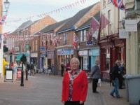 Nantwich town centre prepares for VE Day 70th anniversary
