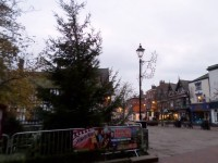 Christmas tree and lights ready for Nantwich town square switch-on