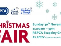 RSPCA in Nantwich to stage Christmas Fair November 30