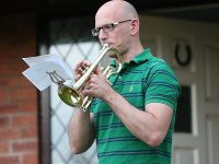 "Wistaston musicians play ""Clap for our Carers"" tribute"
