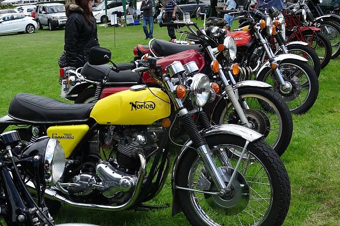 Classic motorbike display - vintage rally