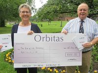 End of Life Partnership receives £8,000 donation from Orbitas