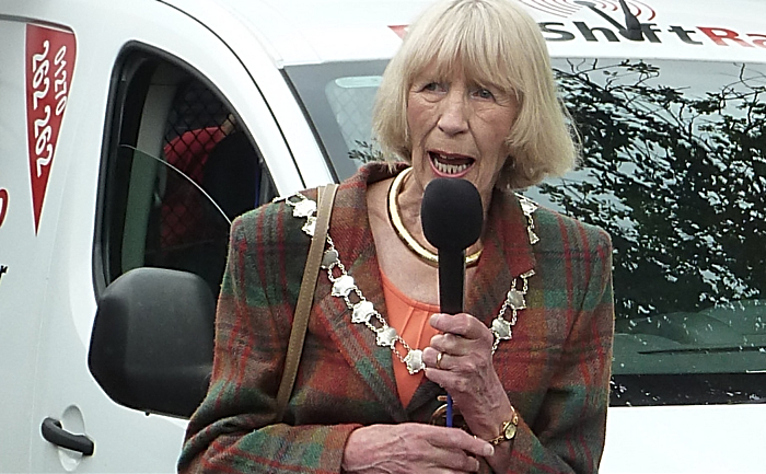 Cllr Norma Simpson speaking at Nantwich Marina Open Day 220815 (1)