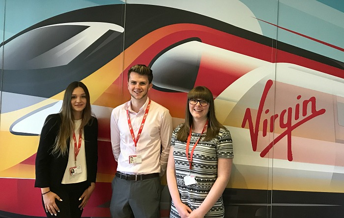 College students placement with Virgin Trains
