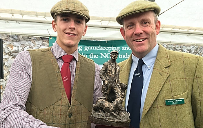 gamekeeping - Connah Baker and NGO Chair Liam Bell with trophy (1)