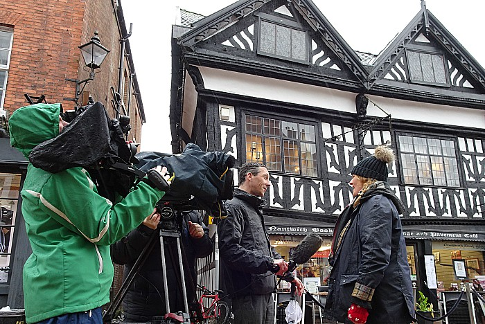 Correspondent Andy Bonner interviews Holly Holy Day Society member Liz Southall for ITV Granada Reports