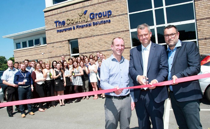 County Group insurance firm new head office opening