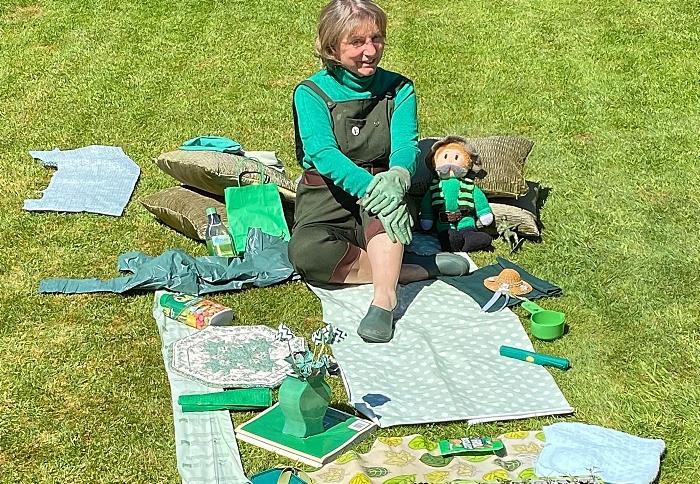 Covid Colour Challenge - green theme