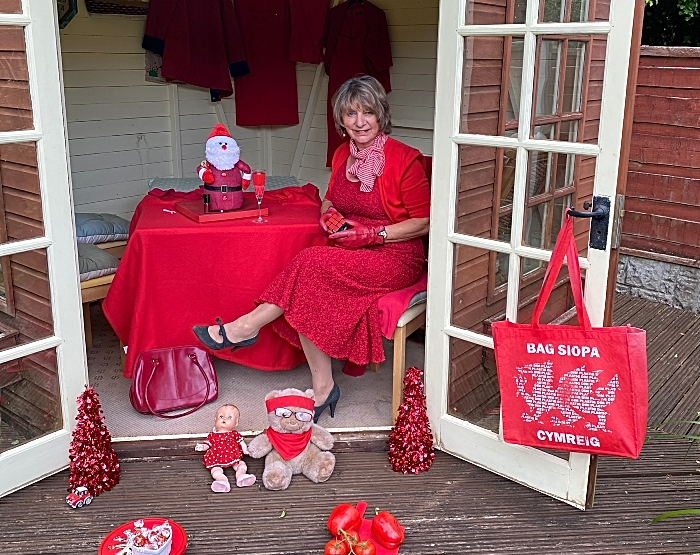 Covid Colour Challenge - red theme