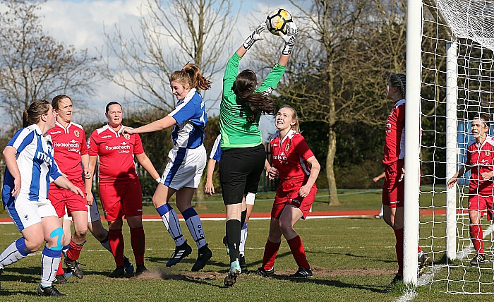 Crewe Alex Ladies vs Chester FC Women - Crewe keeper Hannah Holloway takes the ball