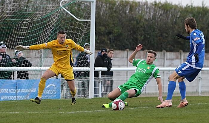 Crewe Alex loanee keeper Will Jaaskelainen eyes the ball (1)