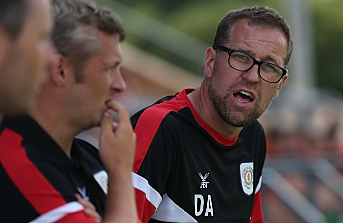 Crewe Alex manager David Artell shouts the orders (1)