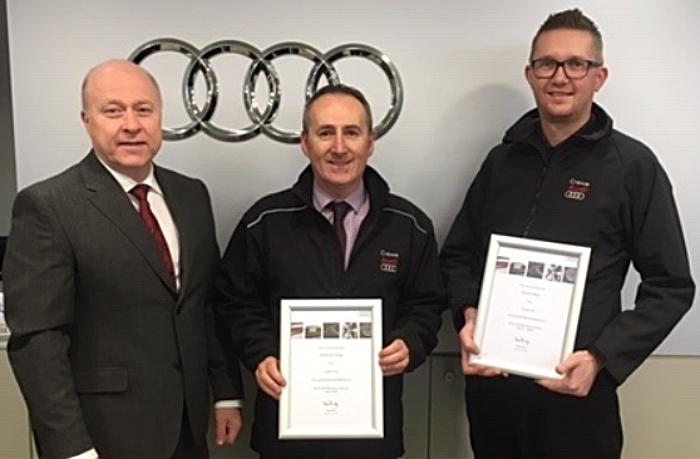 Crewe Audi team celebrates
