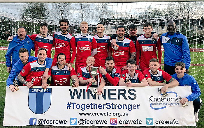 Crewe FC win Crewe FA Sunday Cup - pic courtesy of Crewe FC