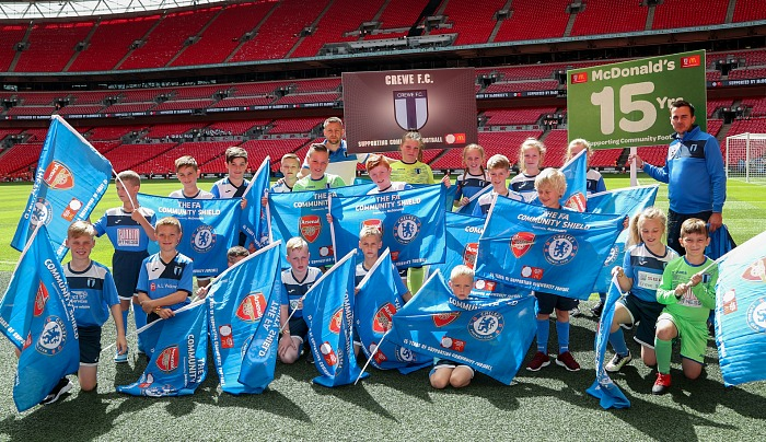 Crewe FC youngsters at Wembley for Community Shield