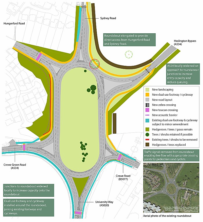Crewe Green Roundabout Schematic