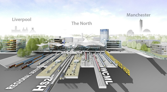 Crewe HS2 Superhub station, artist's impression