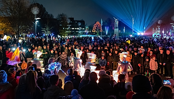 Crewe Lumen events at Christmas