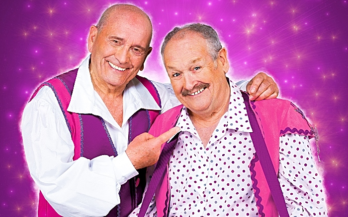 Crewe - Sparkled Press Pic Cannon & Ball