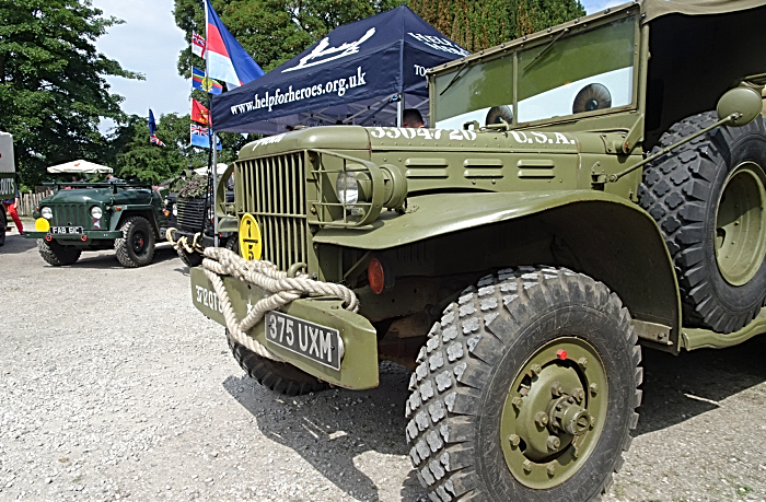 Crewe and District Military Vehicle Club display at the Swan Inn