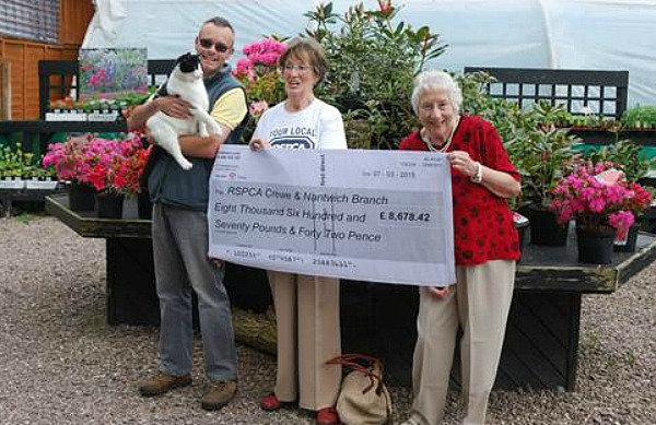 Crewe and Nantwich RSPCA donation