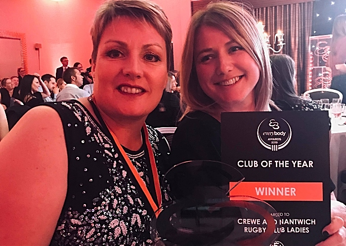 Crewe and Nantwich RUFC Ladies club of year award