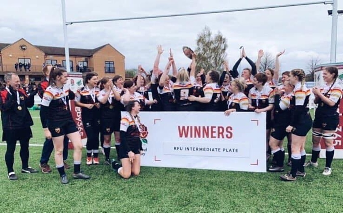 Crewe and Nantwich RUFC Ladies complete league and plate double with victory against Plymouth Albion