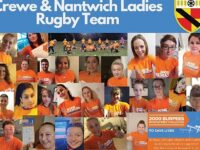Crewe & Nantwich men and ladies rugby teams in fundraiser success