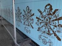 Wistaston pupils help create Crewe town centre mural