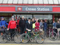 "First ""Crewetical Mass"" cycling event proves a hit"
