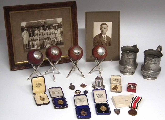 Cricket mementoes of Edwin Steventon