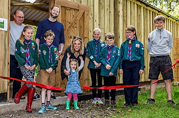 Cutting the ribbon - Scout campsite at Milldale