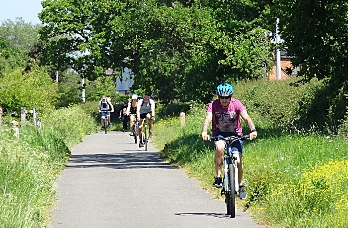 cycling - Cyclists on the Crewe to Nantwich Greenway (1)